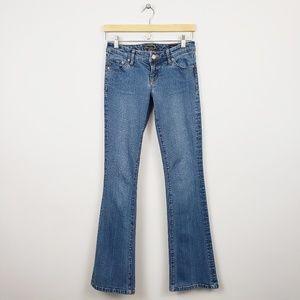 Seven7 Low-rise Med-Wash Flare Denim Jeans